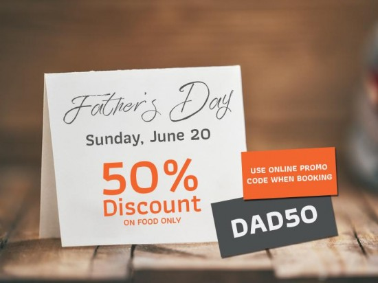 Father's Day 50% OFF for dads